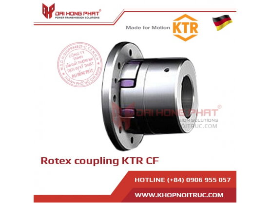 ROTEX® CF jaw coupling with flange connection on one side