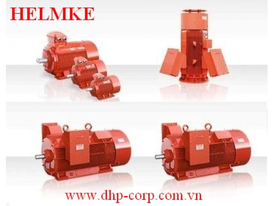 Động cơ điện Helmke 3 pha 4 cực 1500 rpm hiệu suất cao IE3
